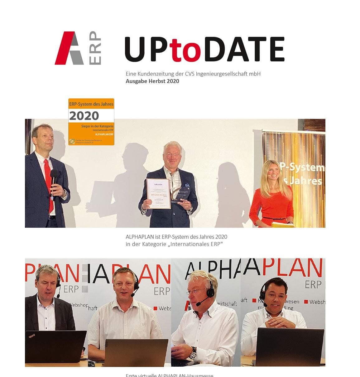 ALPHAPLAN ERP UptoDate Kundenmagazin zur Digitalisierung